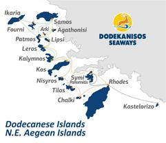 Rutas de Dodekanisos Seaways