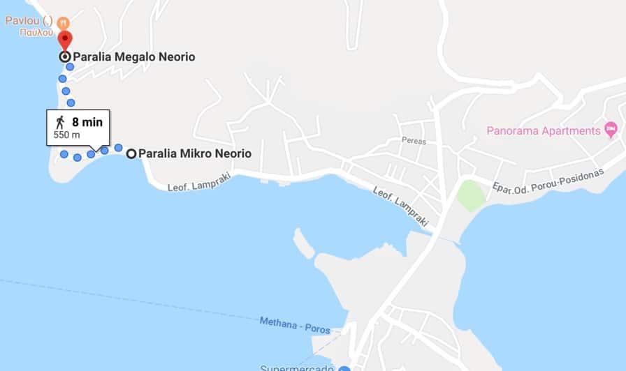 Playa de Mikro y Megalo Neorio