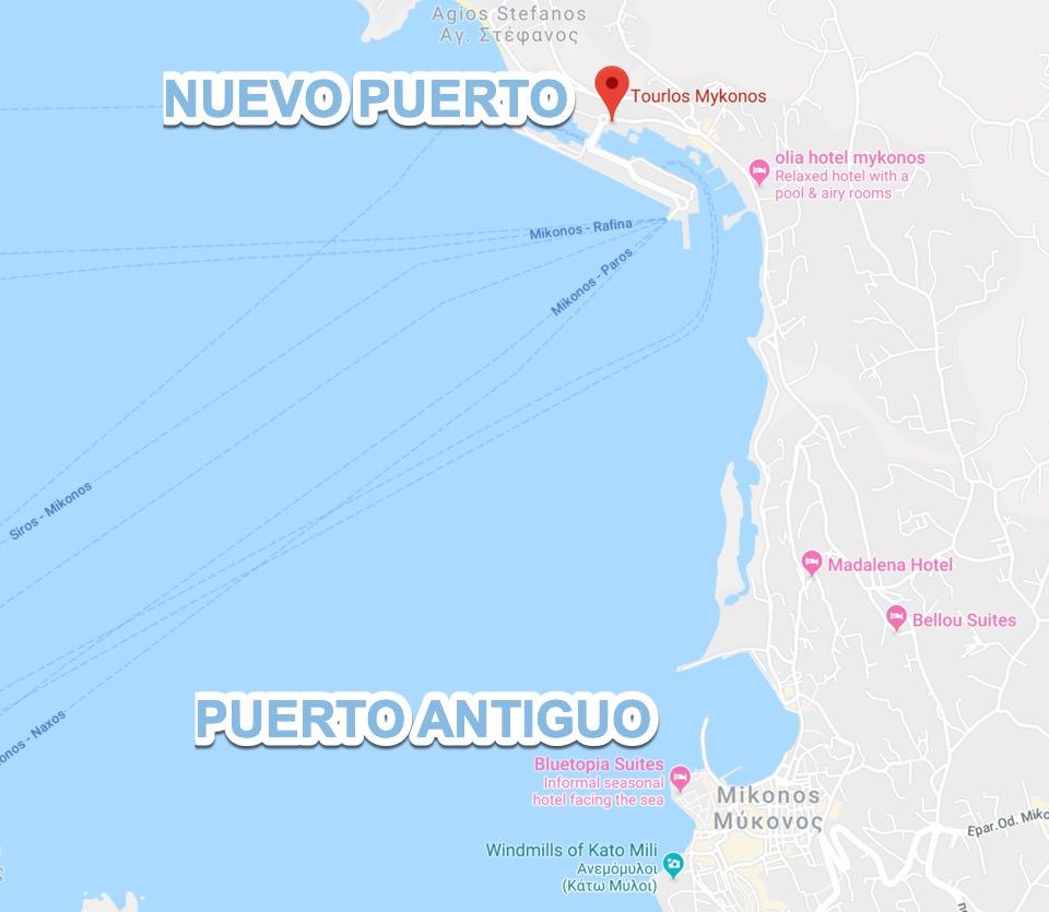 Donde esta Nuevo Puerto de Mykonos