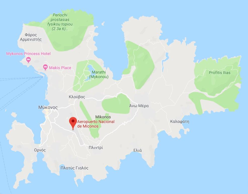 Donde esta el aeropuerto de mykonos