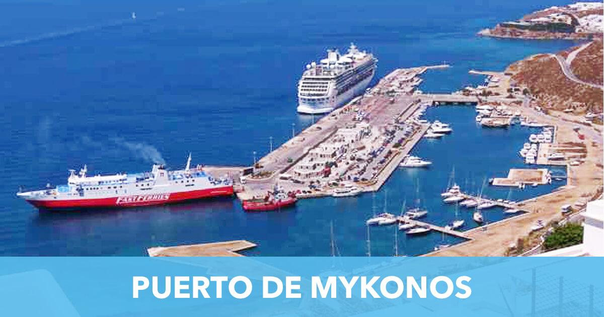 Puerto de Mykonos Grecia