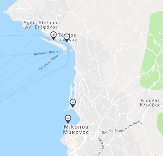 Ruta SeaBus Mykonos