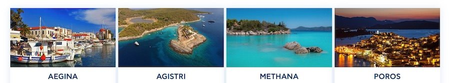 Destinos de Saronic Ferries