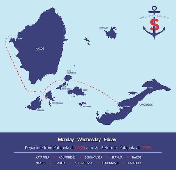 Ruta Ferry Lunes Miercoles Viernes Small Cyclades